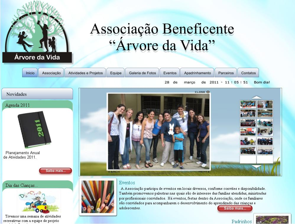 WebSite rvore da Vida